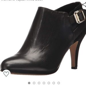 Vince Camuto Zipper Heeled Leather/Suede Booties